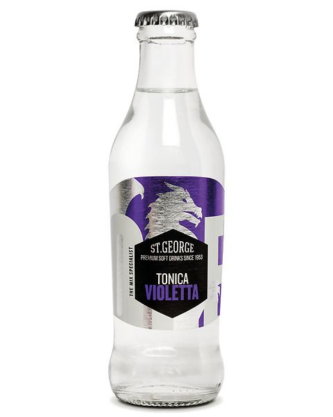 Violet flavored tonic water